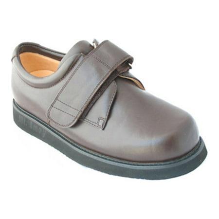Apis Mt. Emey 502 Men's Casual Shoe: 15 XXX-Wide (9E) Brown (Brown Velcro Casual Shoe)