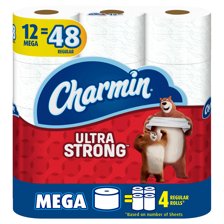 Charmin Ultra Strong Toilet Paper, 12 Mega Rolls = 48 Regular Rolls