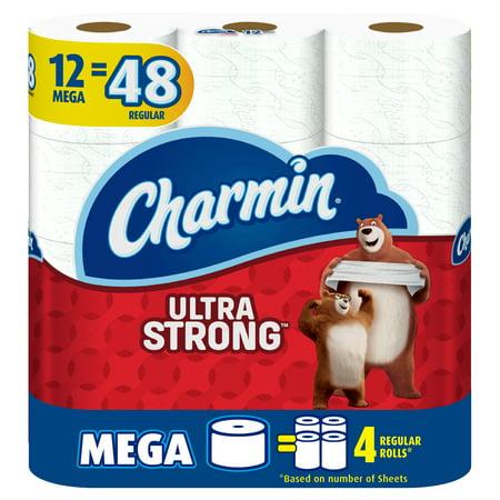 Charmin Ultra Strong Toilet Paper, 12 Mega Rolls = 48 Regular Rolls ()