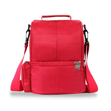 12L USB Heating Insulated Lunch Bag Thermal Travel Cooler Bag Food Beverage Carrier Bag - image 7 de 7