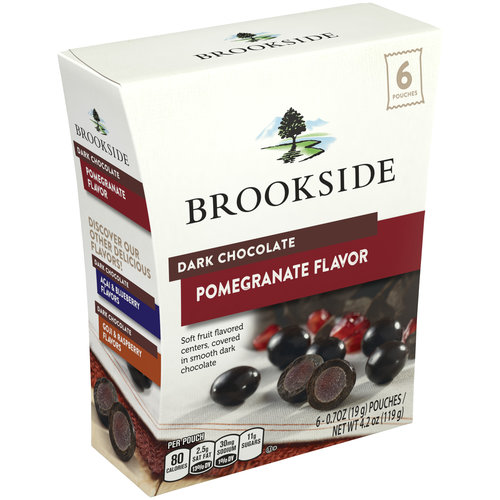 Brookside Pomegranate Flavor Dark Chocolate, 0.7 oz, 6 ct