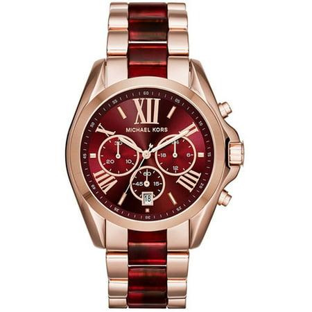 Michael Kors MK6270 Bradshaw Burgundy Red Chronograph Wrist Watch for (Red Michael Kors)