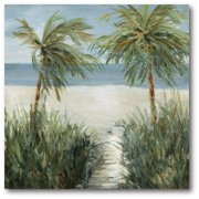 Courtside Market Sandy Beachwalk Gallery-Wrapped Canvas Wall Art, 16x16