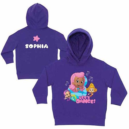 Personalized Bubble Guppies Girls Let's Dance Toddlers' Purple Hoodie - Bubble Guppies Halloween Costume Gil