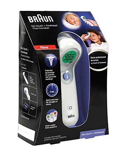 5 Pack Braun NTF3000 No Touch + Forehead Thermometer Infant Children & Adult by