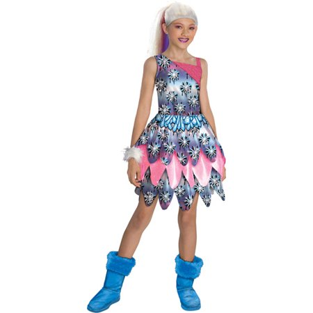 Monster High Abbey Bominable Dot Dead Gorgeous Halloween Costume Medium (8-10) - Looking Dead For Halloween