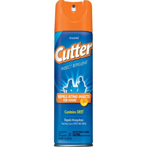 Cutter Unscented Insect Repellent Aerosol Spray w/ DEET, 11-Ounces