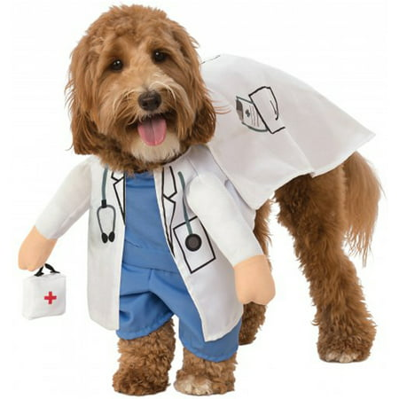Walking Vet Animal Doctor Dr. Pet Dog Cat Halloween Costume (Dog Football Costumes Halloween)