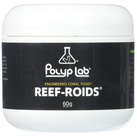 - Reef-Roids- Coral Food For Faster Growing - 60g, The weight in grams on the front label is the actual content of the jar by weight. The reference to.., By Polyplab (60g Jar)