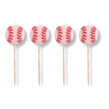 Creative Converting BB015086 Baseball Party Pick Candles