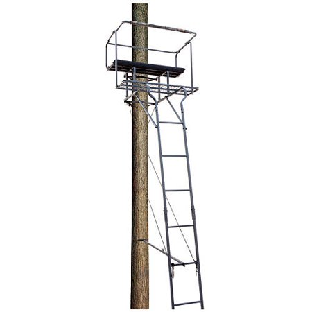 Big Dog Treestands Big Bud 15' Tow-Man Ladder Stand, 63-Pounds/40 x 13-Inch Big Game Steel Treestand