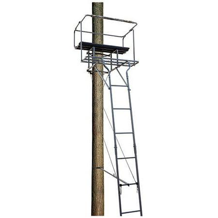 Big Dog Treestands Big Bud 15' Tow-Man Ladder Stand, 63-Pounds/40 x