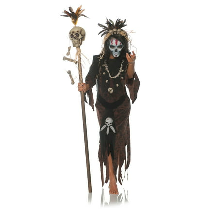 Hex Womens Adult Witch Doctor Voo Doo Magic Halloween Costume