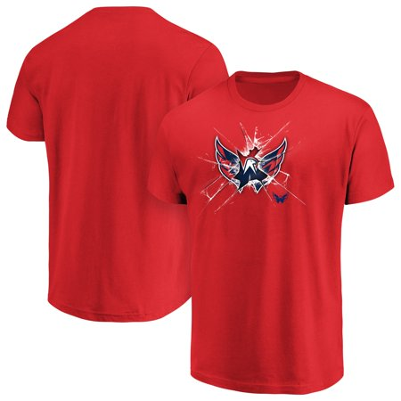 Men's Majestic Red Washington Capitals Poke Check T-Shirt
