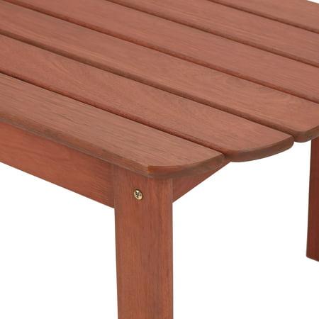 Mainstays Wood Adirondack Outdoor Side Table, Natural