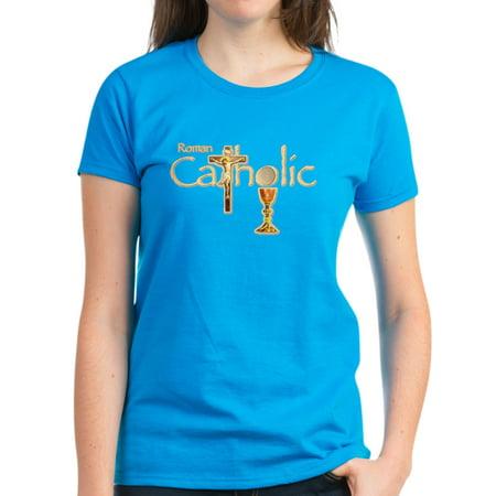593fe4f2d CafePress - CafePress - Proud To Be Catholic - Women's Dark T-Shirt -  Walmart.com