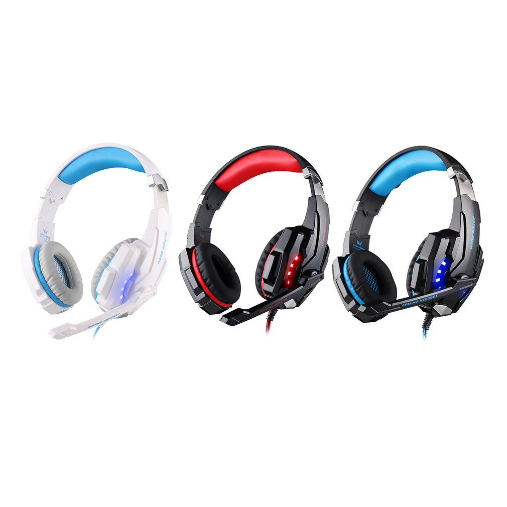 Fashionable G9000 USB 7.1 Surround Gaming Headset LED Headband Gamer Headphones For PC Computer With Microphone