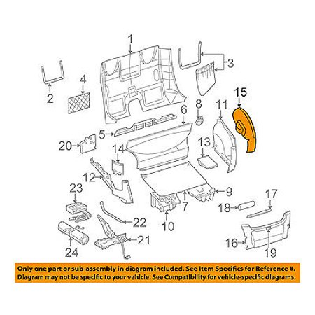 CHRYSLER OEM 2004 Crossfire Interior-Rear-Wheelhouse Cover Right 5097482AA