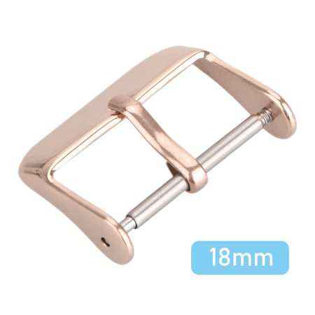 18mm Watch Band Replacement Buckle Watch Buckle Replacement Stainless Steel Watch Strap Clasp, Black/Gold/Rose Gold/ Silver - Gold Stainless Steel Strap