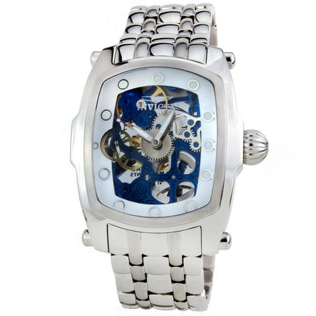 - Invicta 1092 Men's Lupah Mechanical Blue Skeleton Dial Interchangeable Bracelet Watch