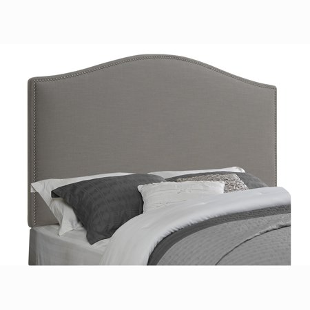 arched grey king california king size upholstered headboard. Black Bedroom Furniture Sets. Home Design Ideas