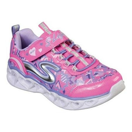Girls' Skechers S Lights Heart Lights Sneaker (Shoes Skechers Light)