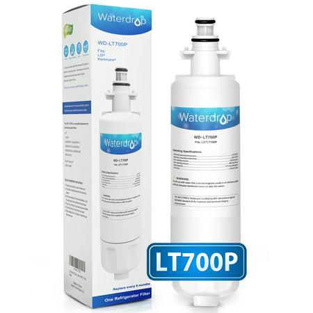 Waterdrop LT700P Refrigerator Water Filter Fits LG LT700P, ADQ36006101, ADQ36006102, KENMORE