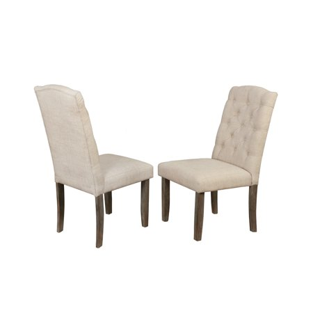 Best Quality Furniture Upholstered Chair, Tufted Style & Rustic