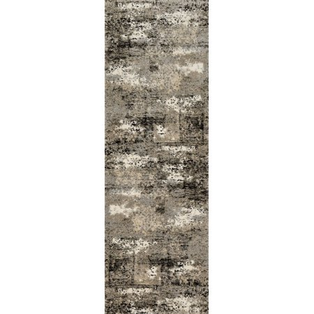 Contemporary Viera Collection Area Rug In Grey And Oval