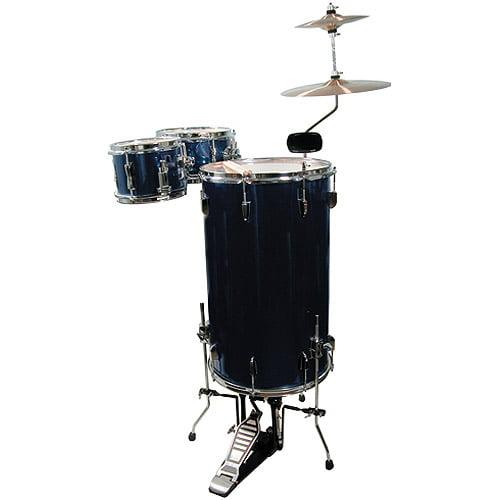 GP Percussion 3-Piece Cocktail Drum Set, Midnight Blue