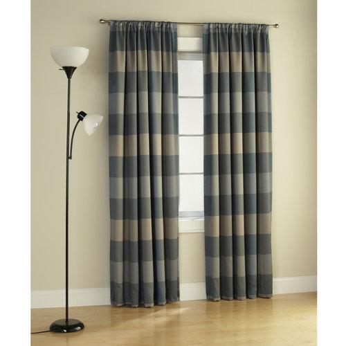Mainstays Room Darkening Curtain Panel Stripes Walmart Com