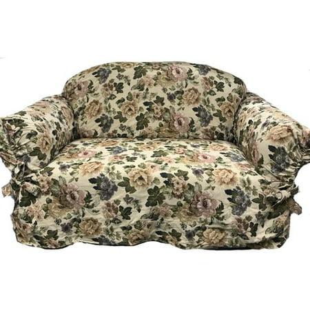 - August Grove Romance Box Cushion Loveseat Slipcover