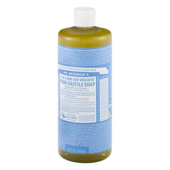 Dr  Bronner's Baby-Unscented Pure-Castile Liquid Soap - 32 oz