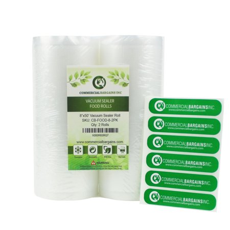 2 Large 8 X 50 Vacuum Saver Rolls Commercial Grade Food Sealer Bags By
