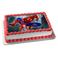 Spiderman Edible Frosting Cake Topper, 1/4 Sheet