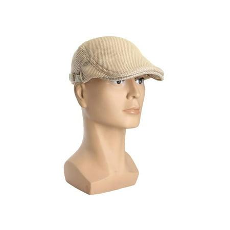 3b86887c Summer Men's Beret Breathable mesh Gatsby Cap Newsboy Hat Cabbie Flat Cap -  Walmart.com