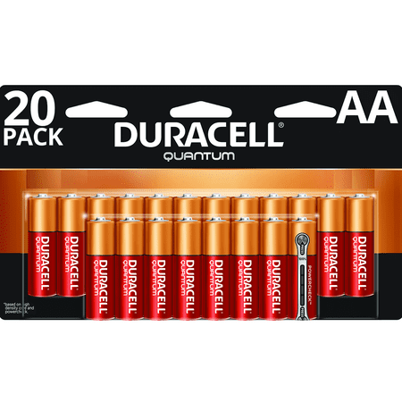 Quantum Instruments Battery Pack (Duracell 1.5V Quantum Alkaline AA Batteries with PowerCheck 20 Pack)