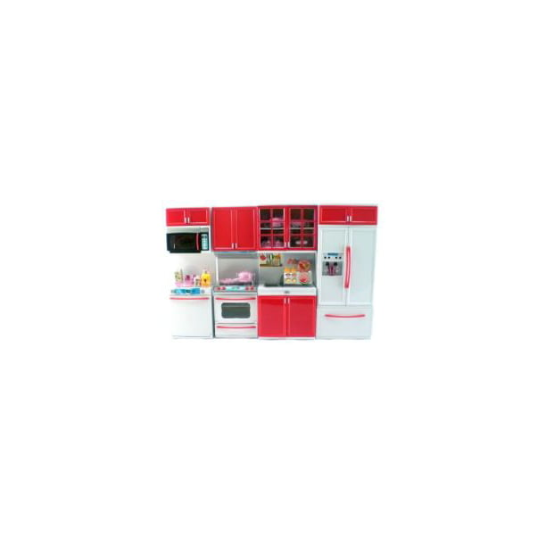 Red Deluxe Modern Barbie Size Kitchen