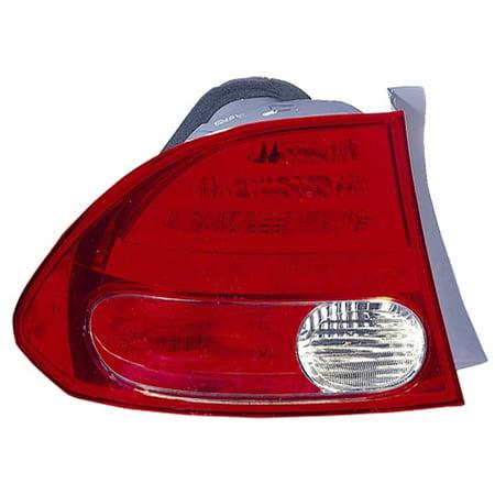 2006-2008 Honda Civic  Aftermarket Driver Side Rear Tail Lamp Assembly 33551SNAA02-V ()
