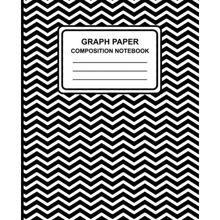 Binding Notebook (Graph Paper Composition Notebook: Chevron (Black), 7.5