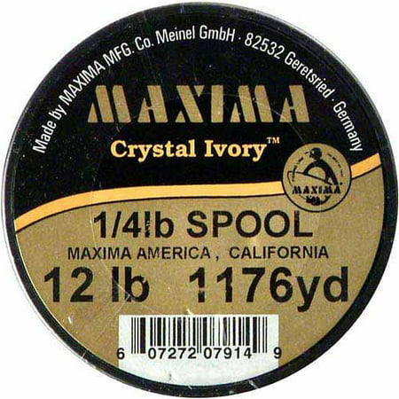 (Maxima Crystal Ivory Guide Spools, 1176 yds, 12 lb)