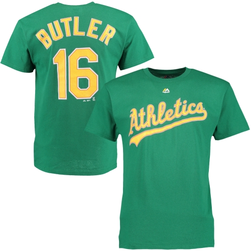 Billy Butler Oakland Athletics Majestic Official Name and Number T-Shirt - Green