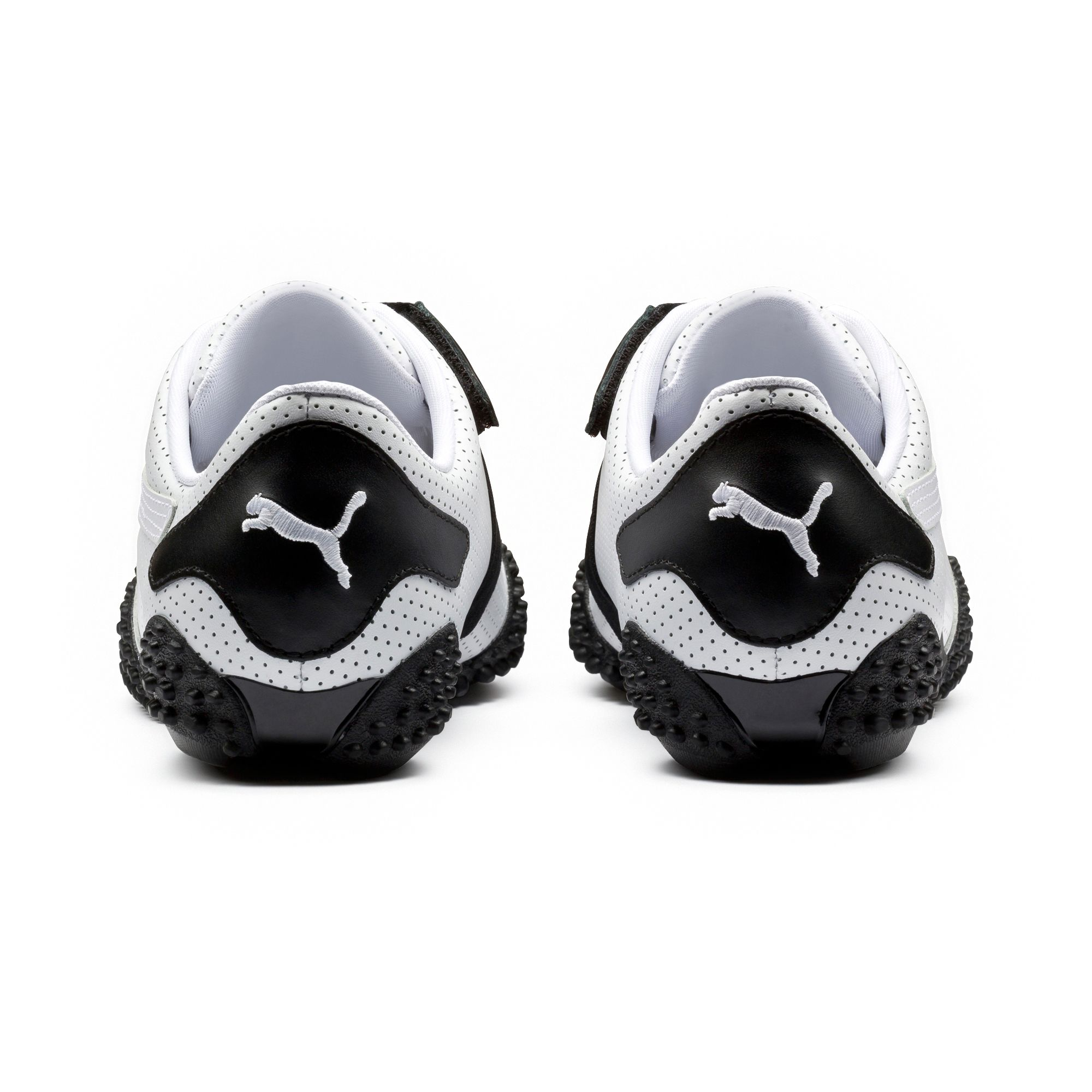 21698f85ae1c PUMA - Puma Men s Mostro Perforated White   Black Ankle-High Running Shoe -  11.5M - Walmart.com