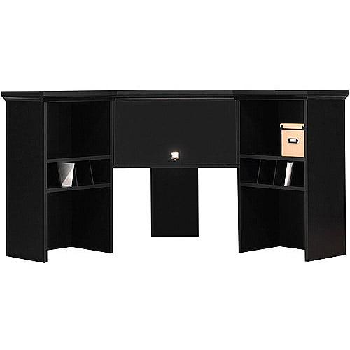 Bush Stockport Hutch For Corner Computer Desk Black