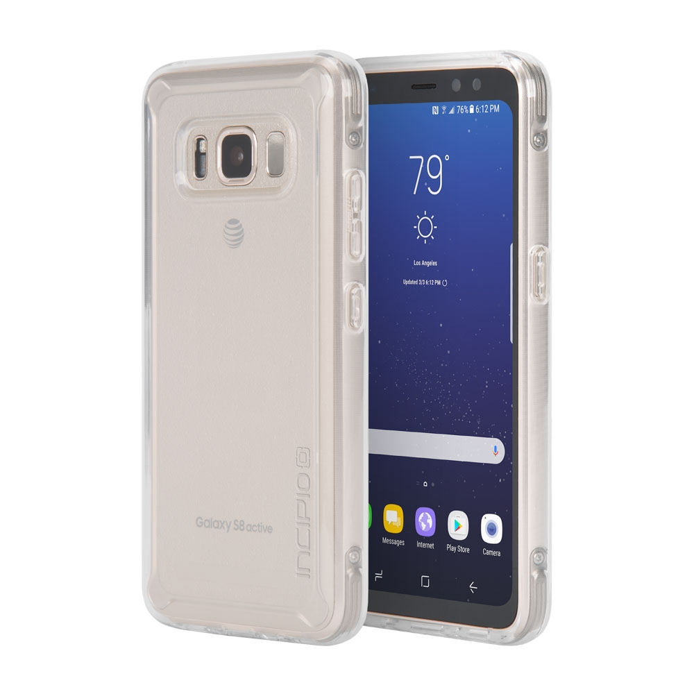 Incipio NGP Pure Samsung Galaxy S8 Active Case with Clear, Shock-Absorbing Polymer Material for Samsung Galaxy S8 Active -