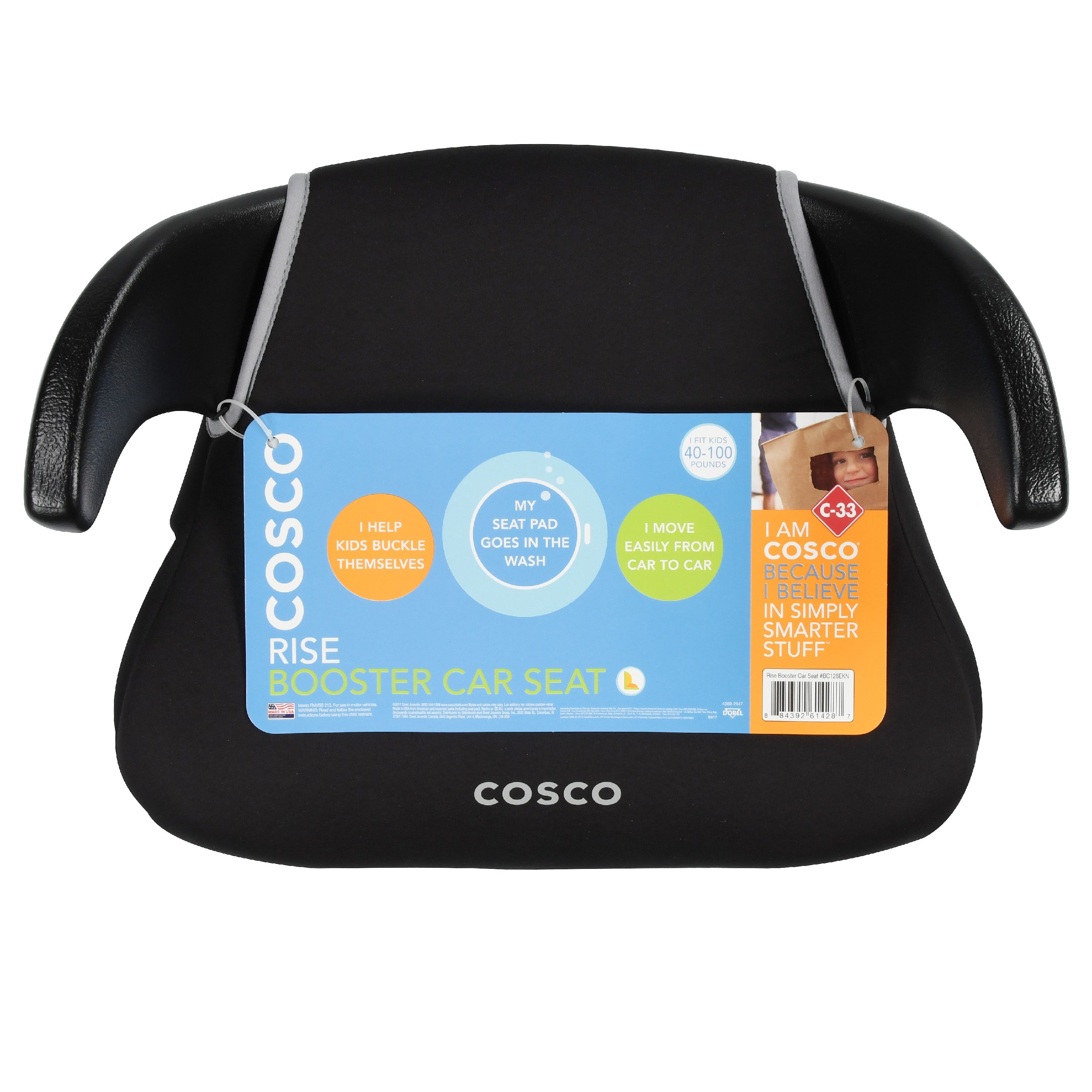 Cosco Rise No Back Booster Black Onyx