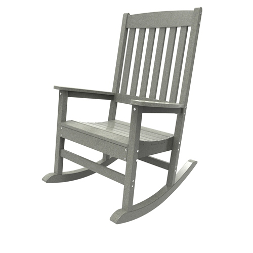 Porch Rocker by Malibu Outdoor - Glendale, Light Gray