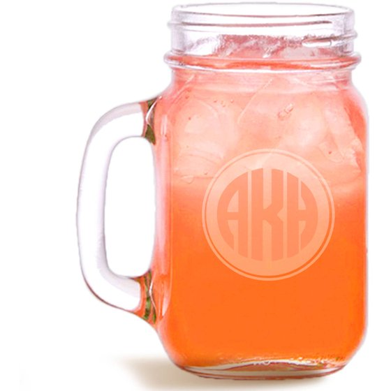 customized monogram mason jar holds 15 oz walmart com