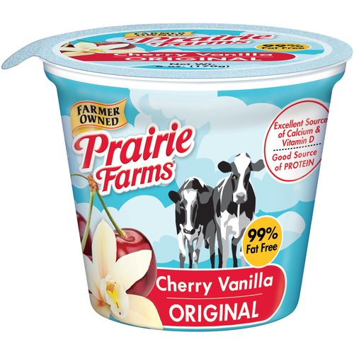 Prairie Farms Cherry Vanilla Original Low Fat Yogurt, 6 oz