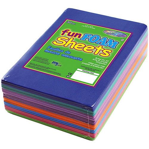 "Foam Sheets, 1.5mm 4"" x 6"", 30pk"